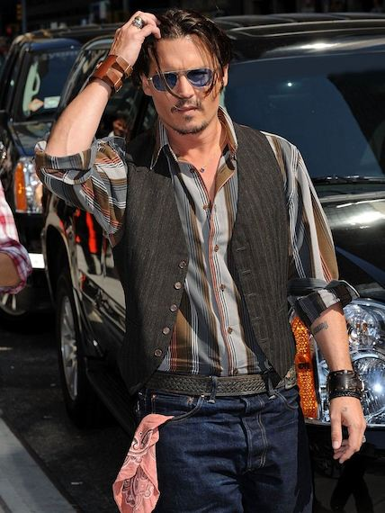 le style de johnny depp le blog de monsieur blog mode homme. Black Bedroom Furniture Sets. Home Design Ideas