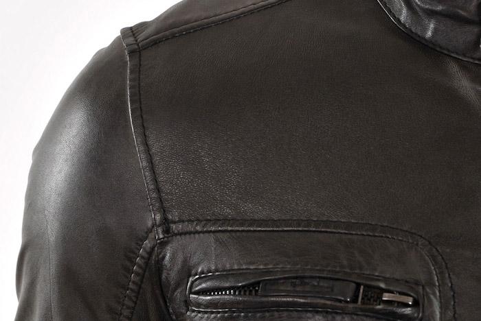 grain cuir veste homme
