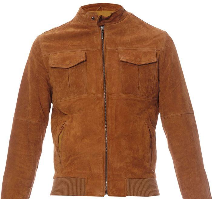 Manteau en croute de cuir