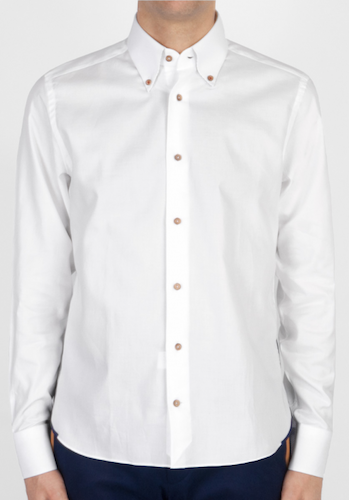 chemise-blanche-oxford-a-details-pois-benday