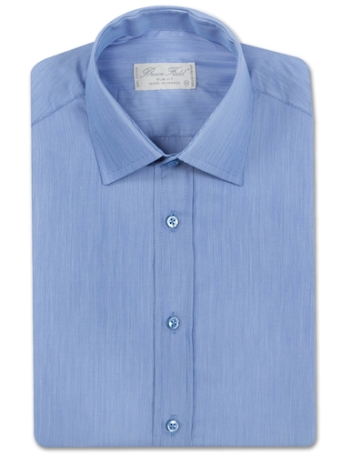 chemise-bleue-homme-cintre-aux-rayures-blanches