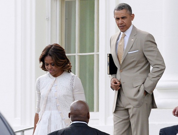President Obama And Family Go To Sunday Church