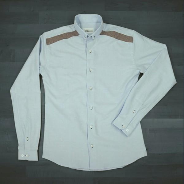 chemise-bleue-ciel-oxford-col-officier-epaules-depareillees-rumeur