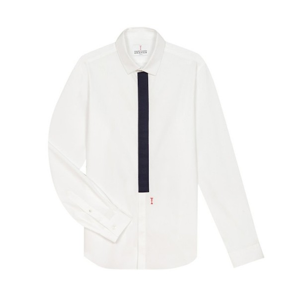 chemise-gros-grain-blanc-navy
