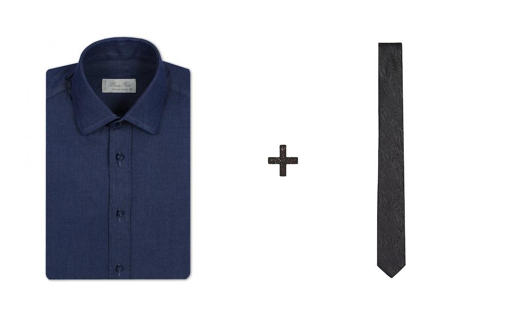 associer chemise bleue et cravate grise1 2