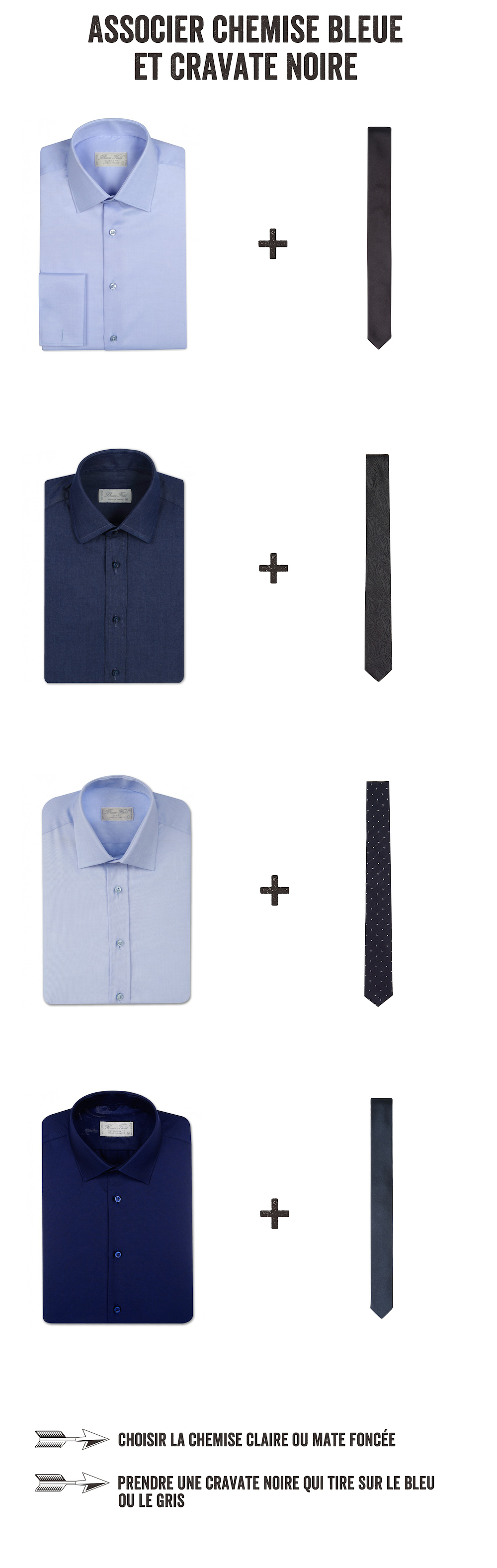 associer chemise bleue et cravate grise1
