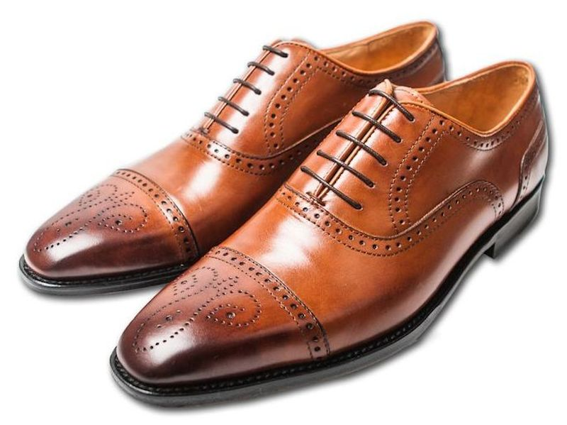 brogues marron style richelieu