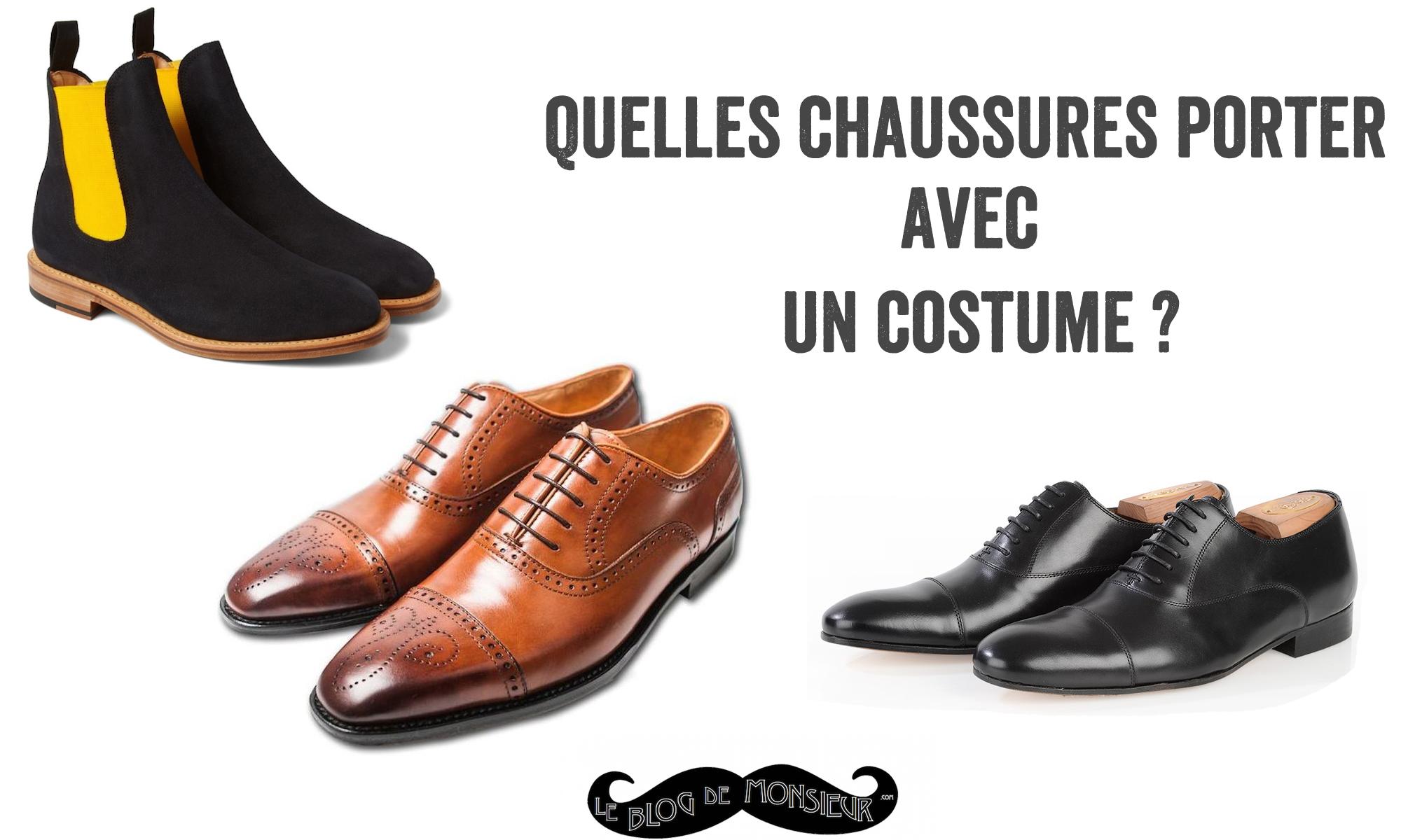 chaussures à porter avec un costume
