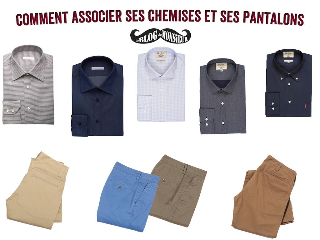 blog mode homme leblogdemonsieur associer chemises pantalons
