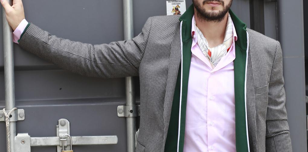 blog mode homme foulard pochette square chemise lanieri