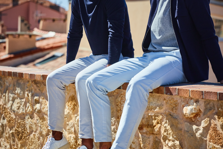 pantalon blanc mr marvis