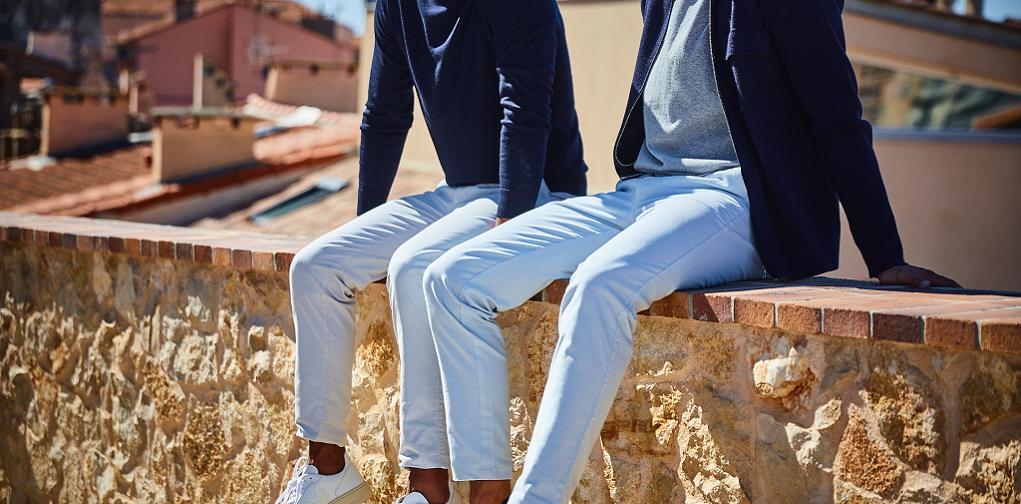 pantalon blanc mr marvis