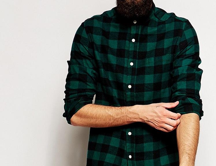chemise flanelle homme verte