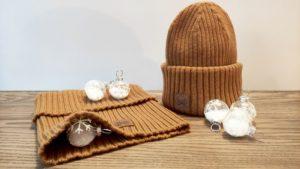 bonnet et cache-cou buff en laine