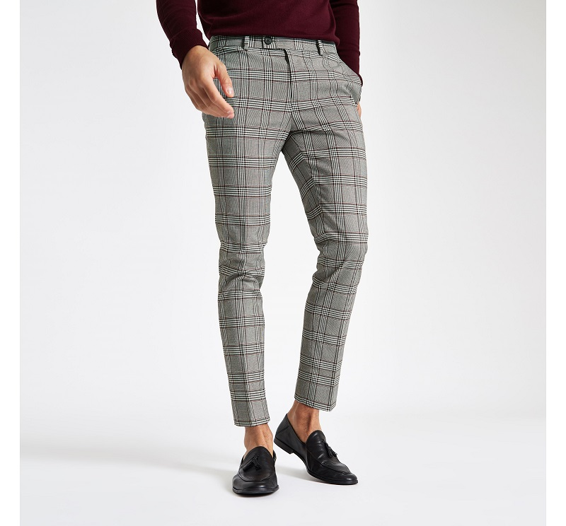 pantalon carreaux prince de galles homme