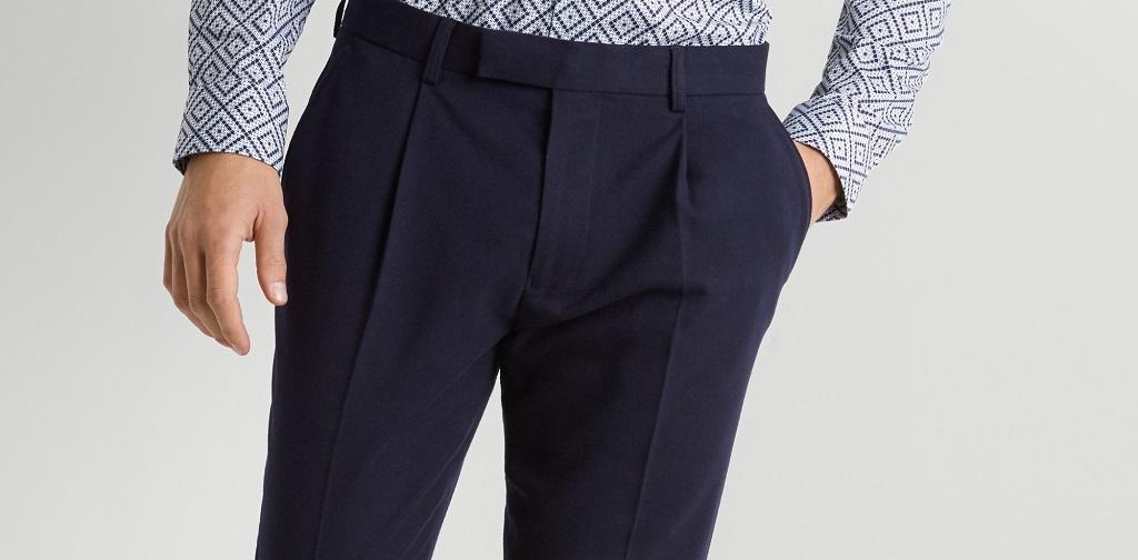 pantalon bleu homme