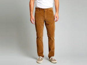 pantalon en velours homme marron