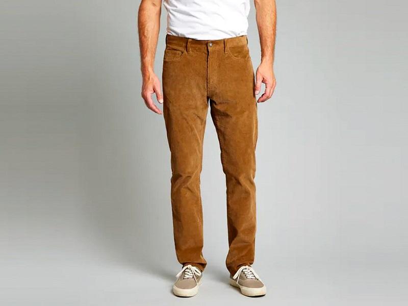 pantalon homm velours marron