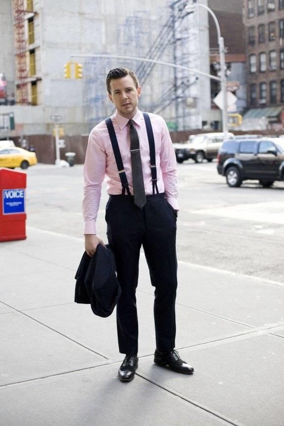 look homme business avec des bretelles