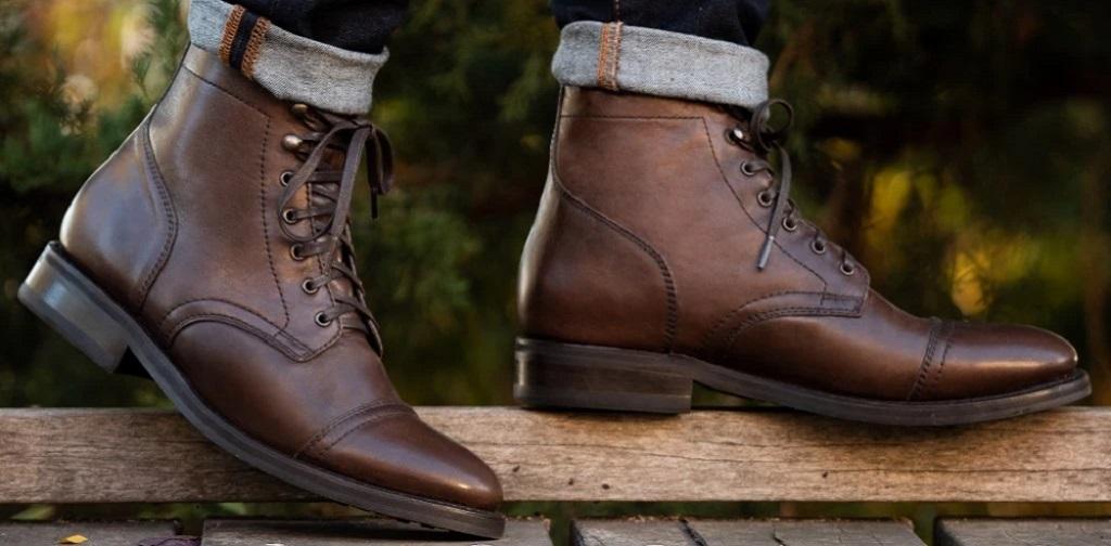boots homme en cuir