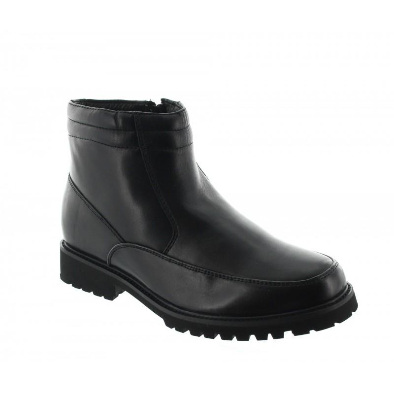 chaussure homme noire avec surélévation