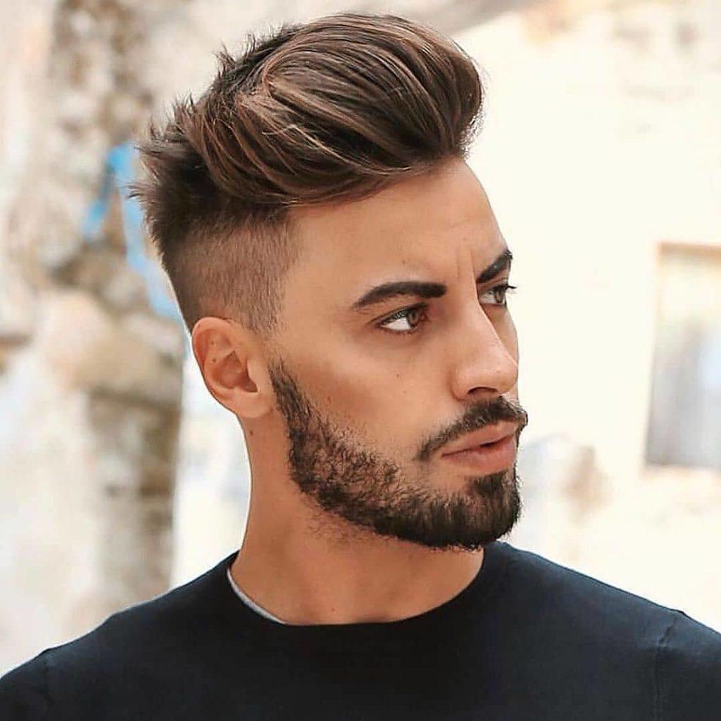 coupe de cheveux homme visage ovale