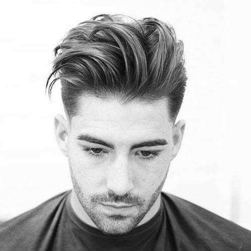 coupe de cheveux homme visage diamant