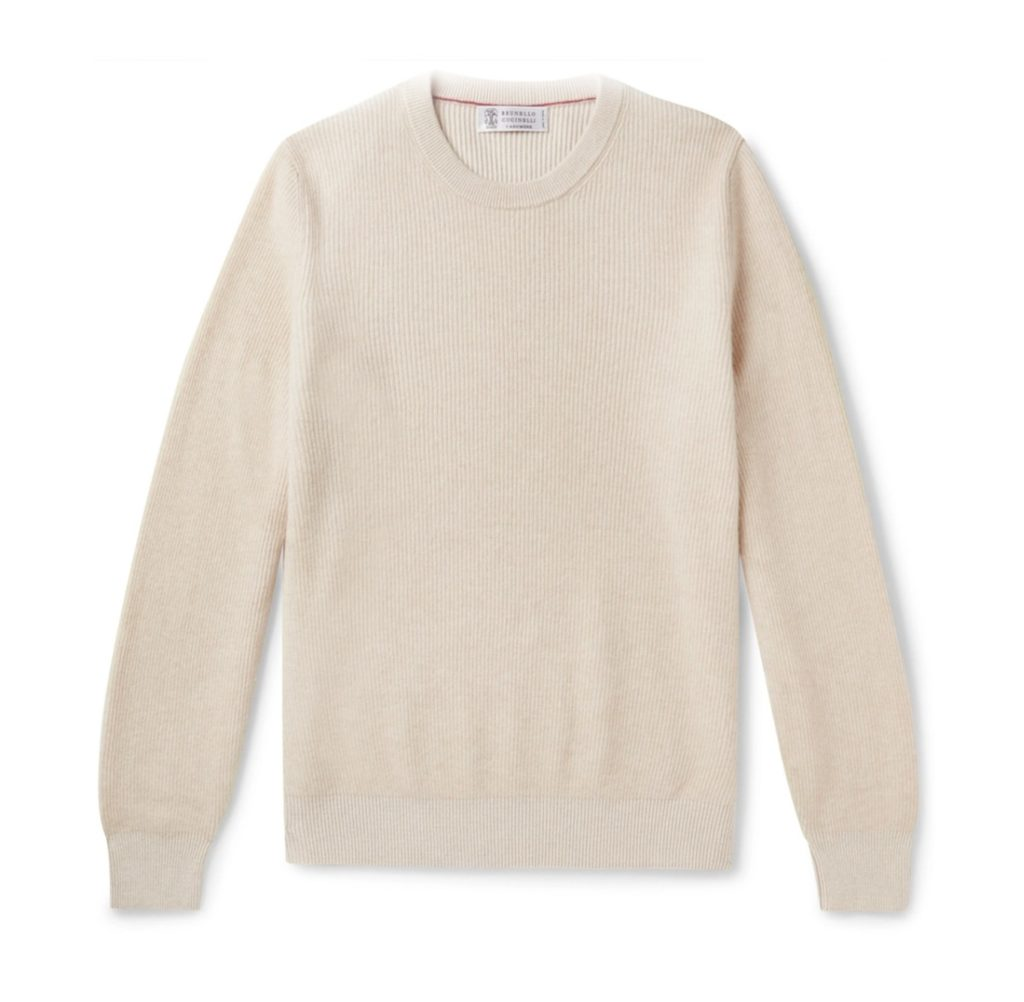 pull beige pour homme