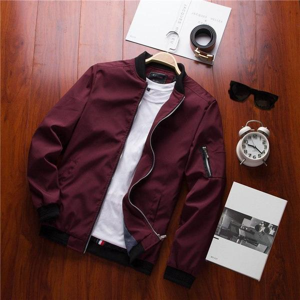 bomber homme rouge