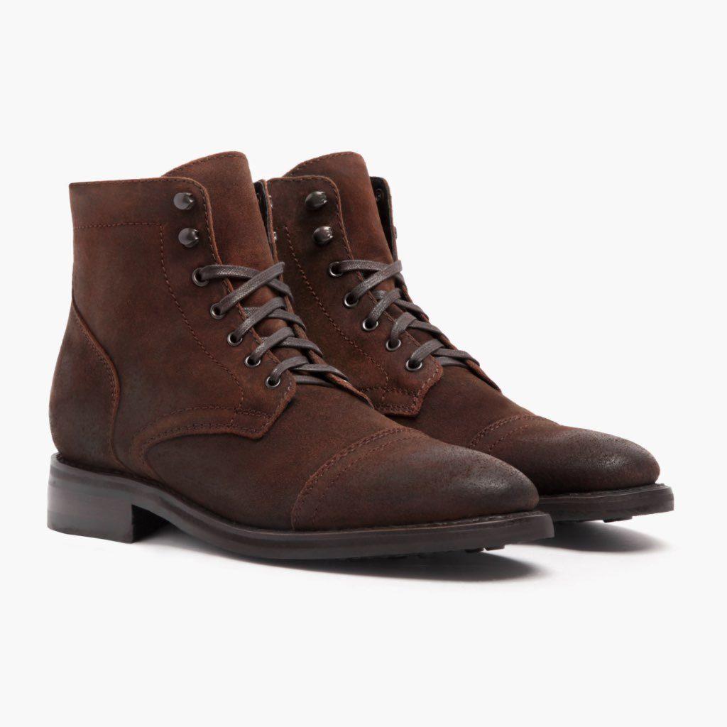 boots marrons à lacets