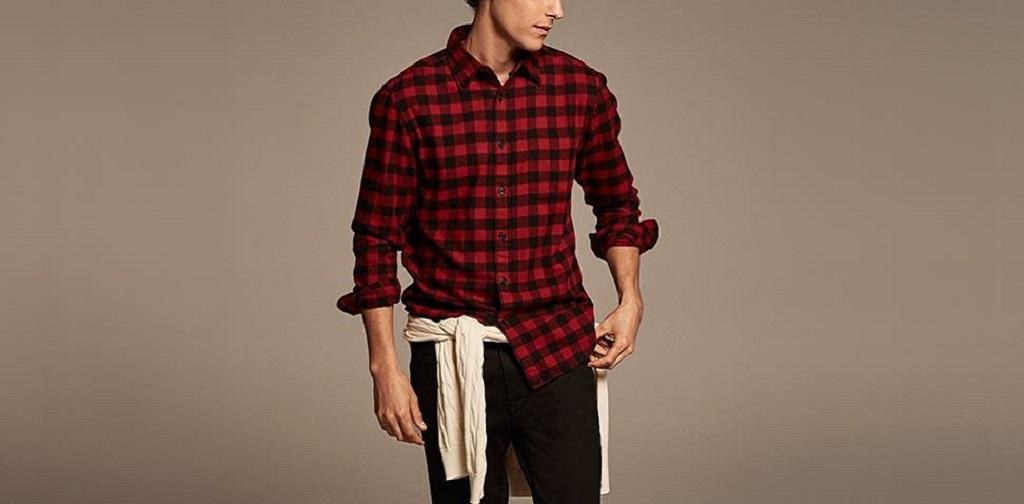chemise en flanelle rouge homme