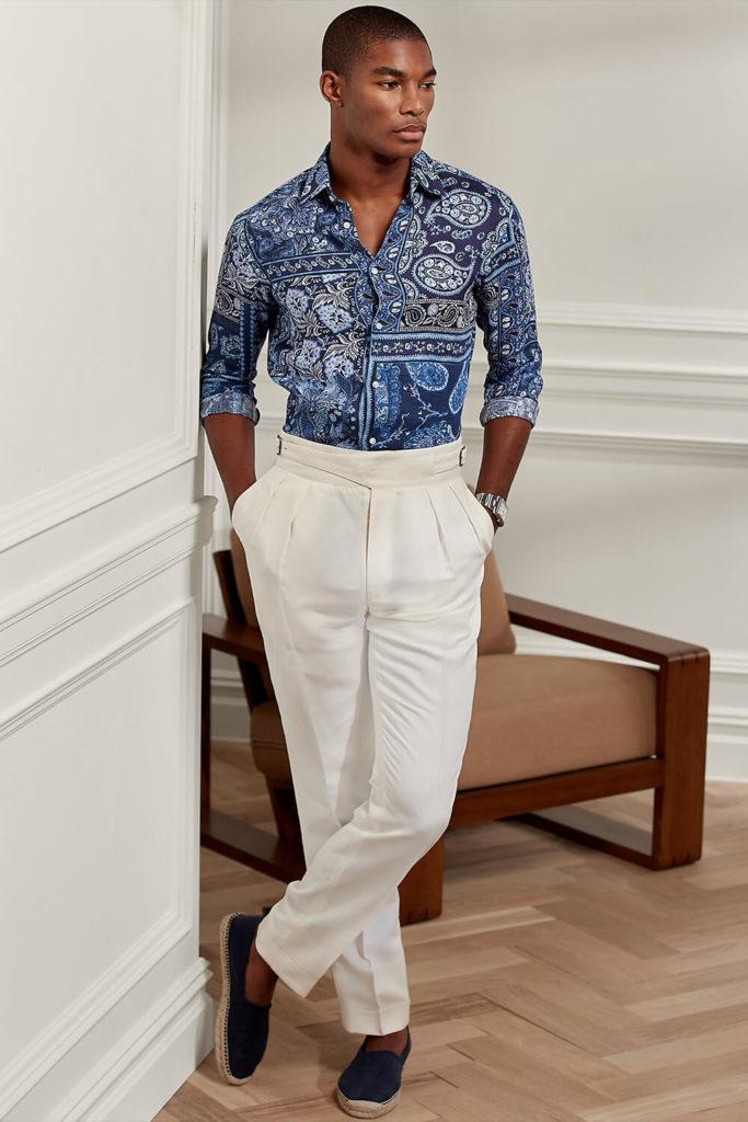 pantalon gurkha en lin dans un style décontracté