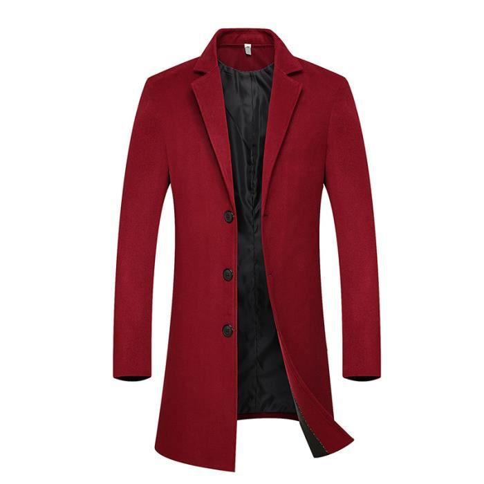 manteau rouge long pour homme