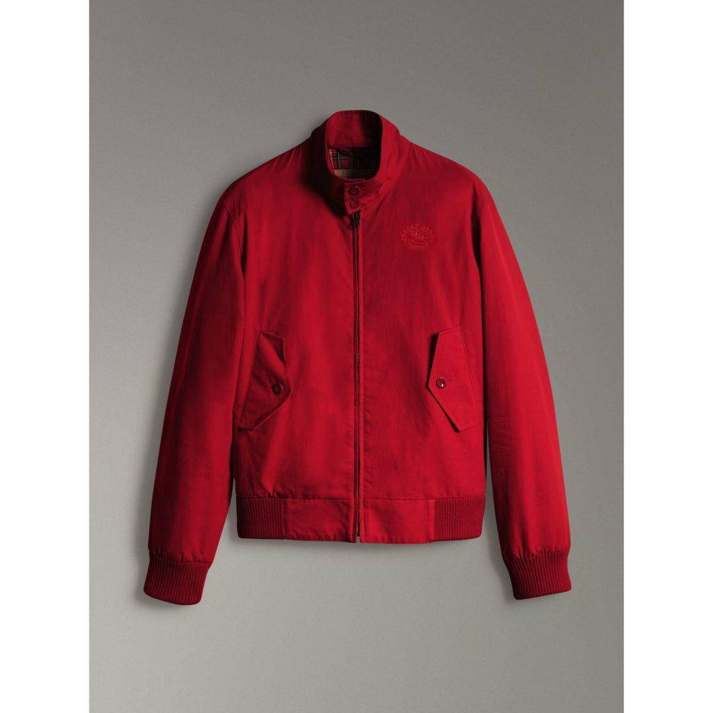 veste rouge vif pour homme