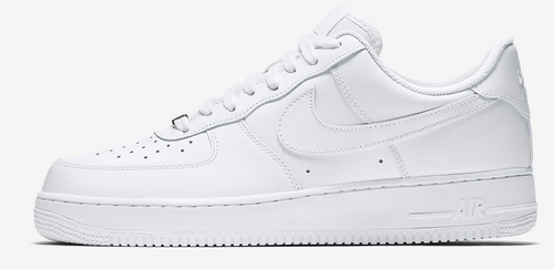 Chaussure Nike Air Force 1 blanche pour homme