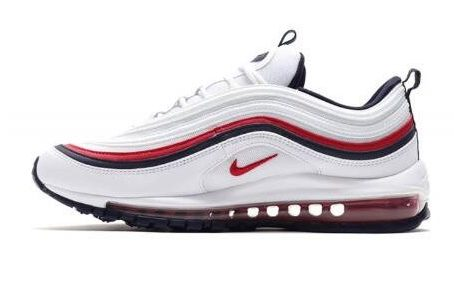 chaussures Nike Air Max 97 blanche et rouge pour homme